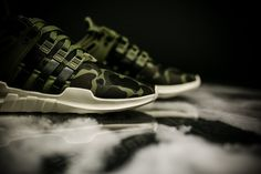 The adidas EQT Support ADV is now available in a new green camo colorway for $110.