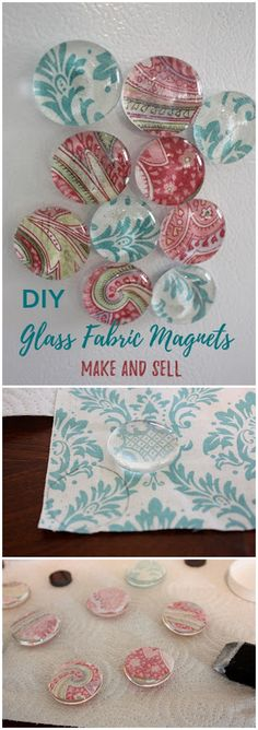 Check out this easy idea on how to make #DIY glass fabric magnets that you can make and #sell #homedecor #crafts @istandarddesign