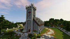 minecraft church medieval build buildings easy blueprints plans designs reddit farm