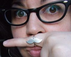 i want this mustache ring