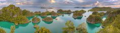 Penemu Islands Raja Ampat Regency West Papua Indonesia (credit Michael Rubenstein) [2048x566] -Please check the website for more pics