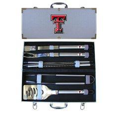 Texas Tech Red Raiders NCAA 8pc BBQ Tools Set