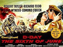 D-Day the Sixth of June Starring Robert Taylor, Richard Todd and Dana Wynter. Old Movies, Vintage Movies, Great Love Stories, Love Story, Dabbs Greer, Richard Todd, War Film, D Day, I Movie