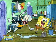 Slip - spongebob-squarepants Wallpaper