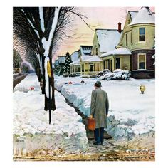 "John Falter ""Snowy Ambush"" 1959"
