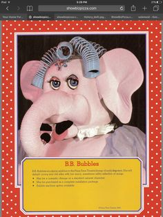 B.B. bubbles from Chuck E Cheese Pizza Time a Theater