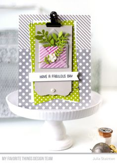 Mini Mail Die-namics, Fab Foliage Die-namics, Blueprints 13 Die-namics, Flamazing Stamp Set - Julia Stainton  #mftstamps