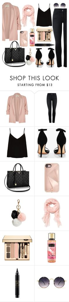 """LOVEHIM."" by valemx ❤ liked on Polyvore featuring River Island, Raey, Boohoo, Rebecca Minkoff, GUESS, Old Navy, MAC Cosmetics and Spitfire"