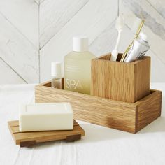 Interesting Wooden Bathroom Accessories Uk Rectangular Tray Utility Storage Home The White Company In Decorating Ideas