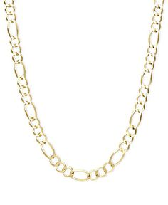 """14k Gold Necklace, 22"""" Figaro Chain (5mm) $1084"""