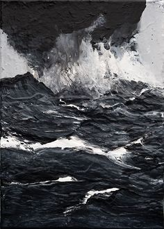 Dark Sea Painting by Werner Knaupp