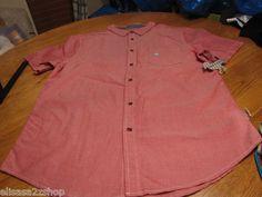 Men's Modern Amusement button up shirt CROW RARE Short sleeve XL faded red NEW