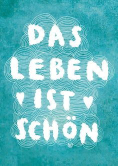 "Postkarte Larifari Das Leben ist schön // postcard ""life is beautiful"" by…"