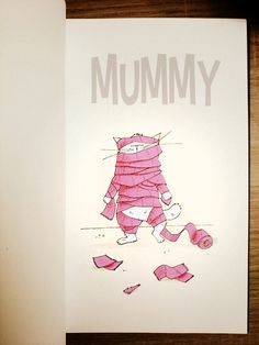 Mrou : le chat momie ! / #mummy for sketch Dailies / #happyhalloween