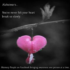 And to think, it wasn't Alzheimers - it was brain cancer. Alzheimer Care, Dementia Care, Alzheimer's And Dementia, Vascular Dementia, Dementia Quotes, Alzheimers Quotes, Will Turner, Caregiver Quotes, The Long Goodbye