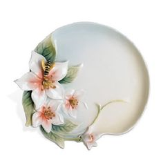 Franz Porcelain Bee and Apple Blossom Plate