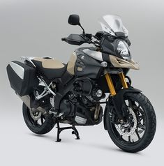 V-Strom 1000 Desert edition Trail Motorcycle, Suzuki Motorcycle, Vstrom 1000, Harley Davidson Cvo, Touring Bike, Dirtbikes, Super Bikes, Motorcycle Accessories, Camping Gear
