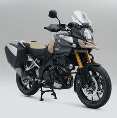 V-Strom 1000 Desert edition Trail Motorcycle, Suzuki Motorcycle, Vstrom 1000, Harley Davidson Cvo, Dirtbikes, Super Bikes, Street Bikes, Motorcycle Accessories, Camping Gear
