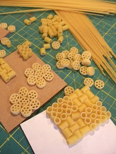 Julie B Booth Surface Design News - making print blocks with pasta