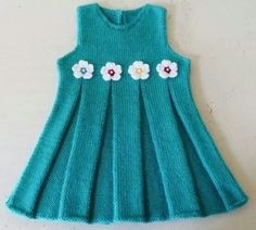 "diy_crafts-Hand Knitted Baby Dress ""Crochet Art added 101 new photos to the album: KnTtInG KiDs WeArS!"", ""Hand Knitted Baby Dress No pattern"", Girls Knitted Dress, Knit Baby Dress, Knitted Baby Clothes, Baby Cardigan, Knitting For Kids, Baby Knitting Patterns, Baby Patterns, Knitting Ideas, Free Knitting"