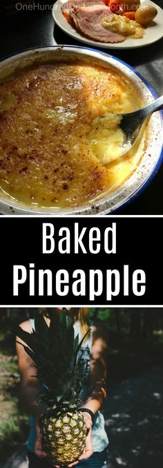 Baked Pineapple Custard Recipe, Side Dishes that go well with ham, Easter recipes, Pineapple recipes recipes side dishes paula deen recipes side dishes potlucks recipes side dishes ree drummond recipes side dishes veggies Pork Chop Recipes, Oven Recipes, Sausage Recipes, Cooking Recipes, Dishes Recipes, Ham Recipes, Potato Recipes, Cooking Bacon, Custard