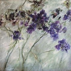 Claire Basler, French artist.  Astounding large scale paintings of florals, trees, landscapes, etc.  Also sculpts, ceramics, textiles.
