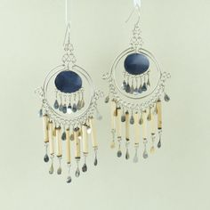 Onyx Stone Earrings // Ethnic Earrings // by EarringBazooka