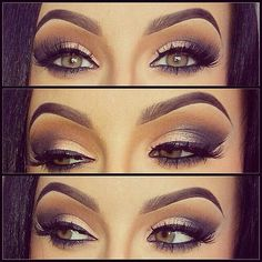 Pretty Eye Makeup Look For Green Eyes
