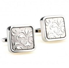 How to Select the Right Wedding Cufflinks | carved steel cufflinks