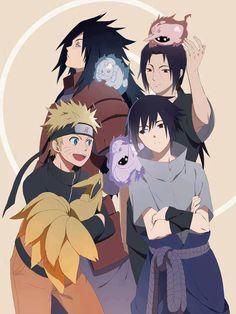 naruto - Madara, Itachi, Sasuke and Naruto