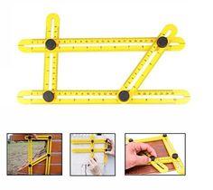 Angle-izer Template Tool Règle Multi – angle OKPOW Instrument de Mesure Multifonctionnel en ABS: Fabriquée en ABS (acrylonitrile butadiène…