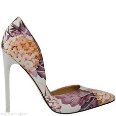 Giveaway: Monday's MADISON Leah White Floral Stiletto