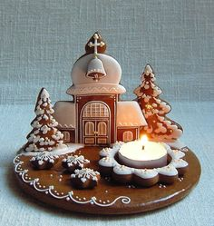 Christmas Gingerbread, Gingerbread Cookies, Merry Christmas, Xmas, Cookie House, Food Art, Kids Meals, Birthday Candles, Bakery