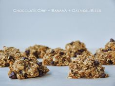 Chocolate Chip + Banana + Oatmeal Bites (4 Ingredients) - The Simple Veganista