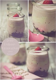 Oreo-Erdbeer-Käsekuchen ohne backen