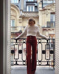 Sweaters Outfits, 70s Outfits, Paris Outfits, Outfits Mujer, Cozy Sweaters, Vintage Outfits, Cute Outfits, Vintage Clothes 70s, Vintage Clothing Styles