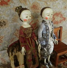 The Old Wooden Sisters: Queen Anne doll reproduction doll ready to new home