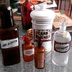 Frascos farmacia antiguos