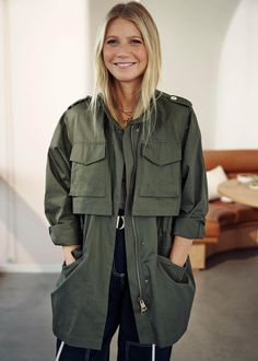 Core Collection: House Rules Our third Core Collection comes at a time when we're reevaluating priorities, manifesting a better future, and doing Belted Cardigan, Black Cardigan, Gwyneth Paltrow, Jordan Tees, Core Collection, Mid Length Skirts, Navy Pants, Wide Leg Trousers, Military Jacket