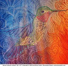 Paducah -Nectar Collector detail - Caryl Bryer Fallert - bryerpatch.com