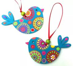 Arty-chicks by Em at Artichicks Diy Crafts Hacks, Diy Home Crafts, Diy Arts And Crafts, Crafts For Kids, Diwali Diy, Diwali Craft, Bird Crafts, Paper Crafts, Clay Wall Art