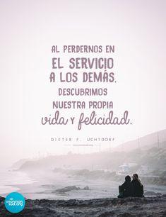 #servicio #lds #sud #citas #quotes Lds Quotes, Inspirational Quotes, Lds Mormon, Bad Life, Lds Church, Relief Society, Latter Day Saints, God Is Good, Jesus Christ