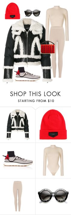 """H E A V Y"" by molauren ❤ liked on Polyvore featuring Dsquared2, Givenchy, Yeezy by Kanye West, adidas Originals, ZeroUV and Diane Von Furstenberg"