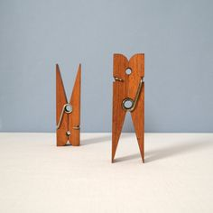 Mid Century Oversized Clothespins by MidModMomStore on Etsy