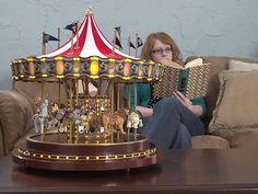 Gold Label® Animated Anniversary Carousel Music Box » Sportsman's ...