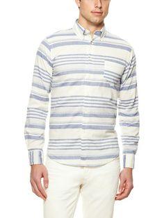 Horizontal Stripe Sport Shirt