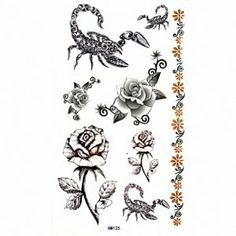Taobaopit Spider and Scorpion Temporary Waterproof Tattoo Sticker(10 pcs/lot) by Taobaopit. $6.28. * Recommended Ages 9 to adult. WARNING: CHOKING HAZARD -- Small parts. Not for children under 3 yrs.. * 100% waterproof and can last up to 7 days.. * Unisex and one size fits most.. * Easy on and off, they can be removed with baby oil or rubbing alcohol.. * Looks real & seamless. Gender : Unisex Dimensions : 10cm*17cm