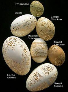 #handcarved egg shells into delicate #art!