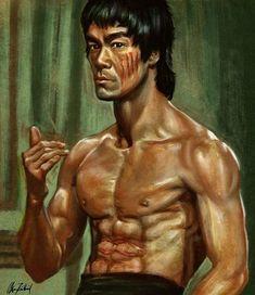 Bruce Lee Art, Bruce Lee Martial Arts, Xmen, Bruce Lee Abs Workout, Model Box, Hk Movie, Bruce Lee Pictures, Ip Man, Celebrity Caricatures