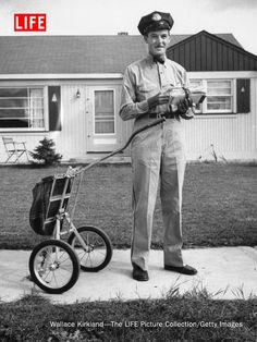 Mail carrier Clifford Bodine, Michigan, 1955.